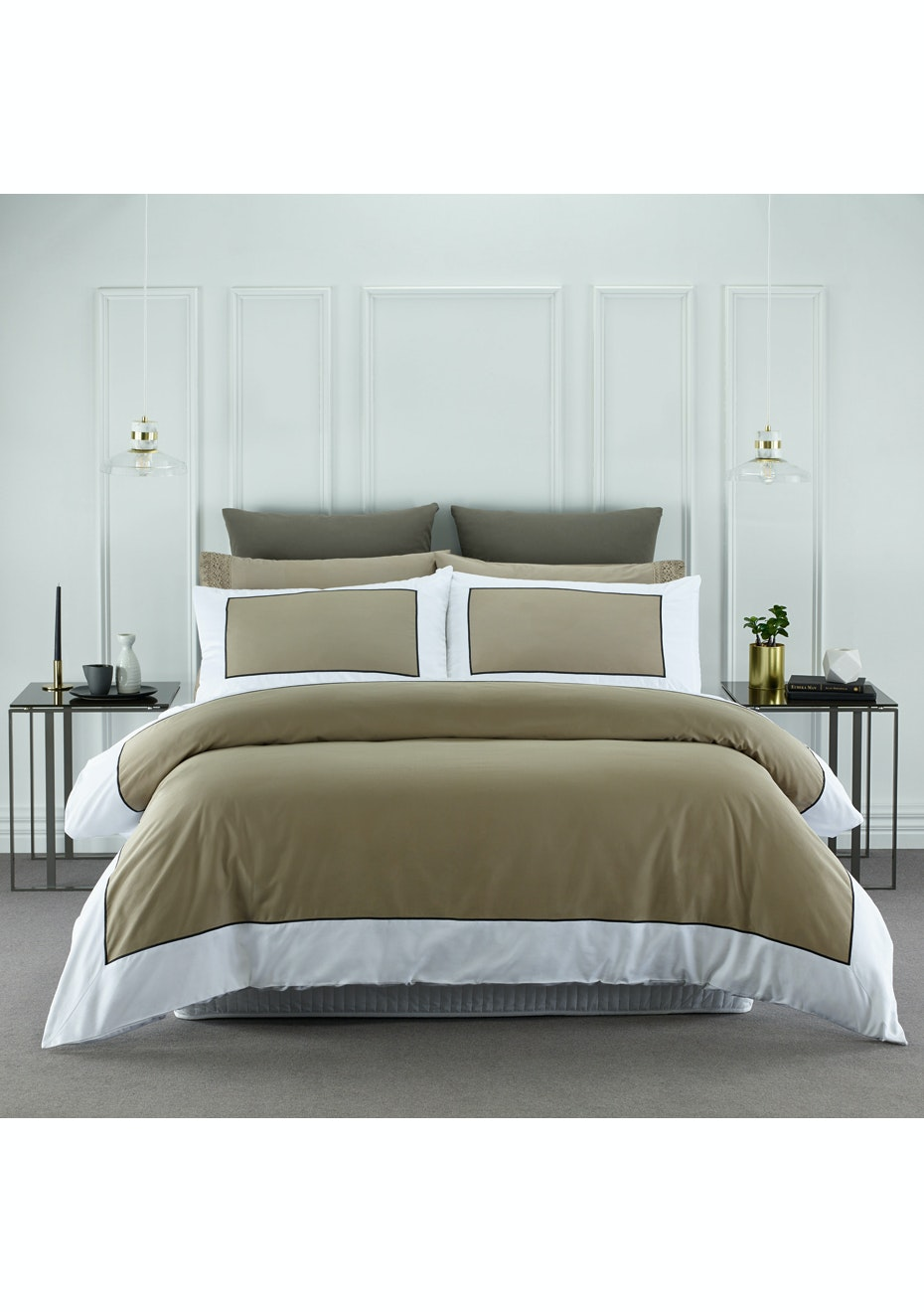 Style & Co 1000 Thread count Egyptian Cotton Hotel Collection Ascot Quilt Cover sets Super King Linen
