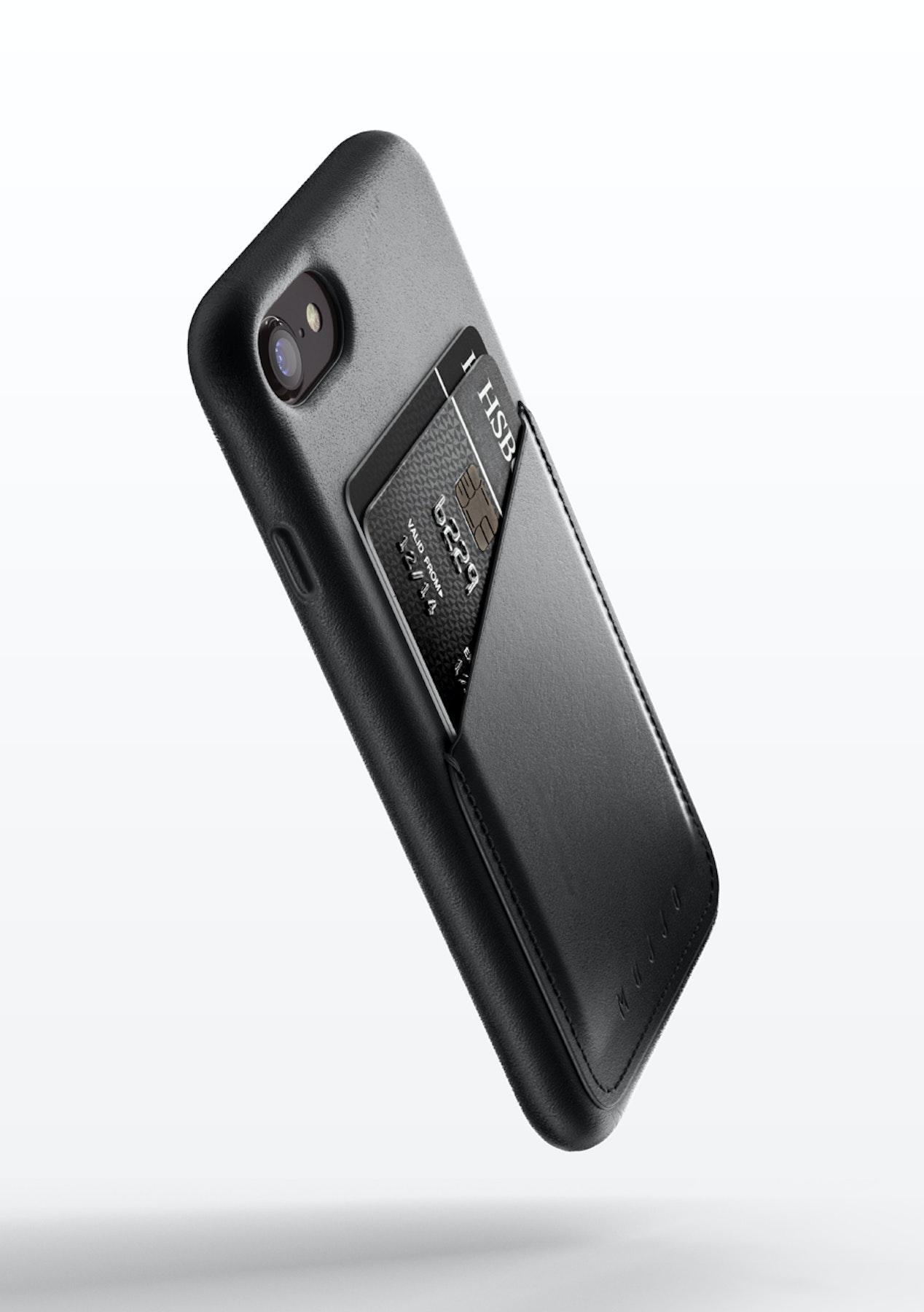 online store 9af4b 25d28 Mujjo Leather Wallet Case for iPhone 7 - Black