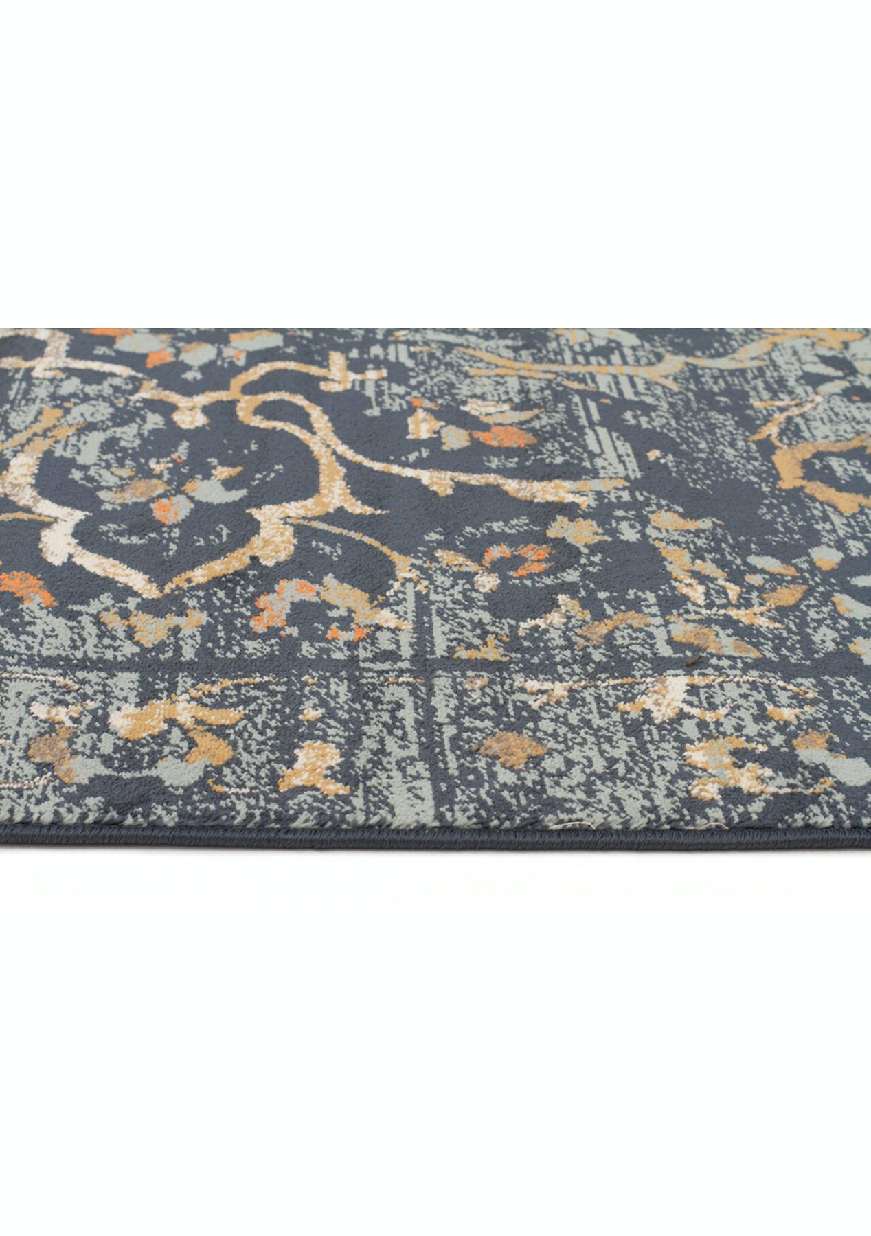 Navy Rust Multi Loomed Durable Easy Care Modern Rug 330x240cm By Culture Vintage Inspired Rugs Onceit