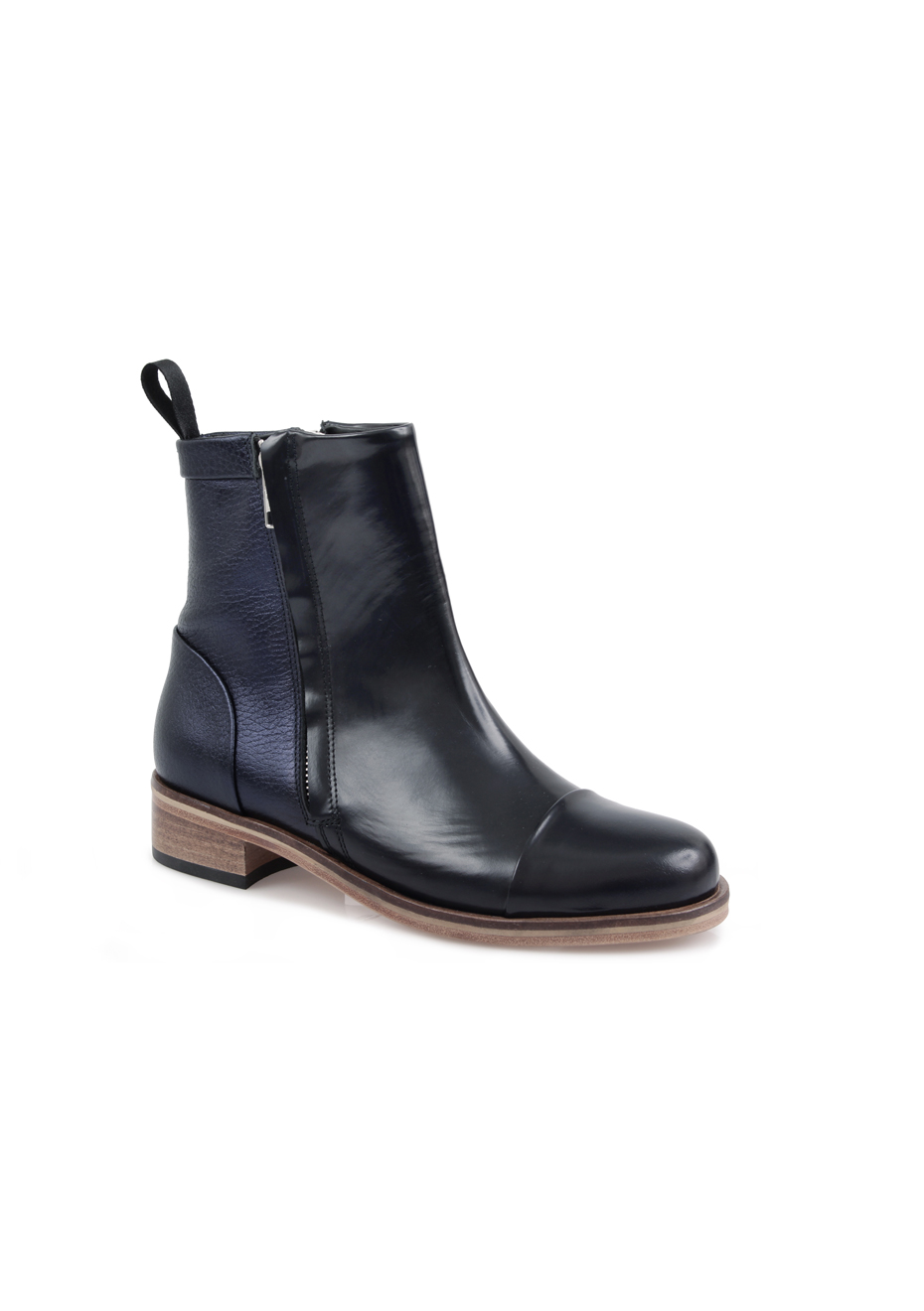 Beau Coops Stream Black Ankle Boots Women QO48223