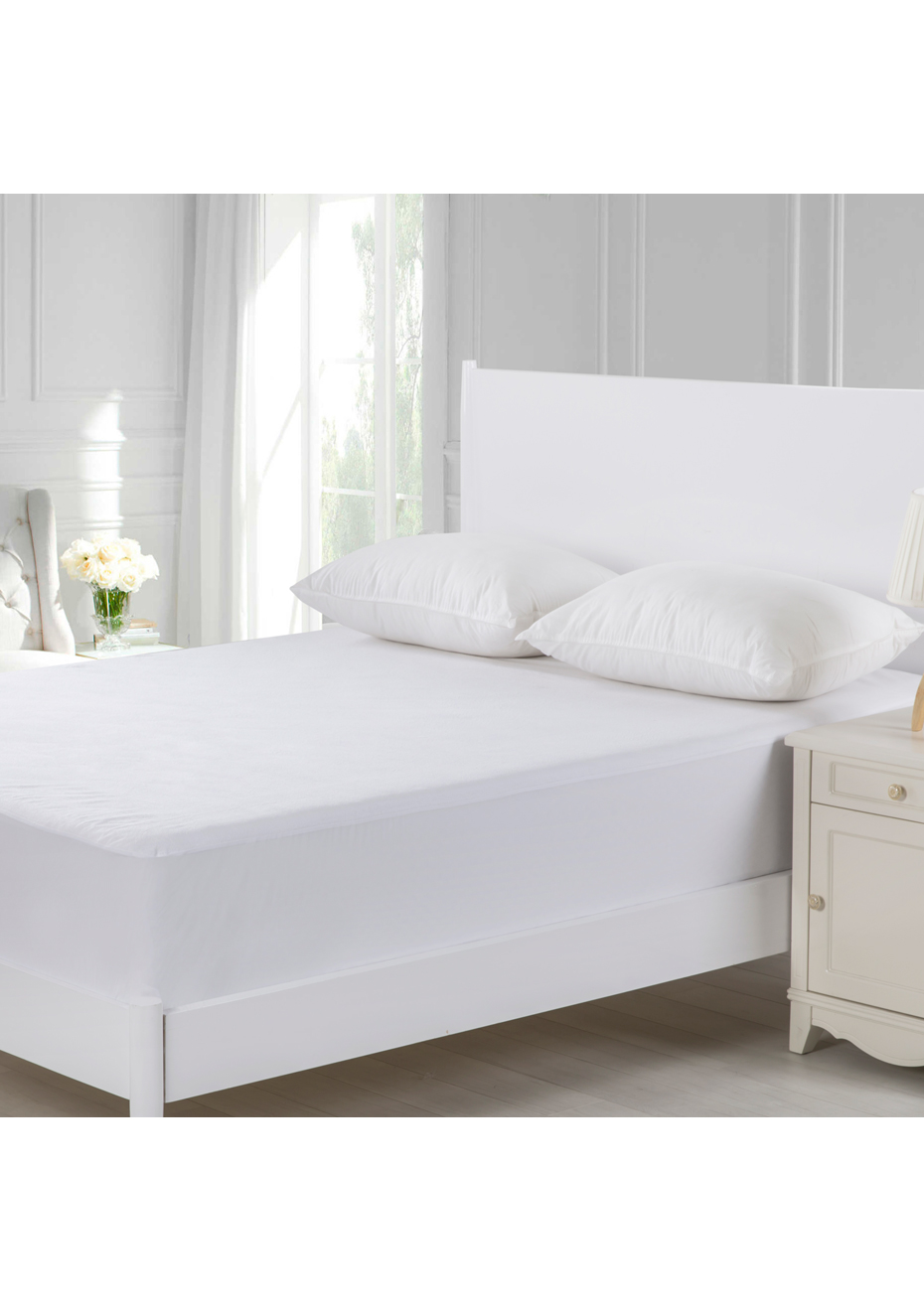 Machine Washable Terry Waterproof FULLY FITTED Mattress Protector DOUBLE