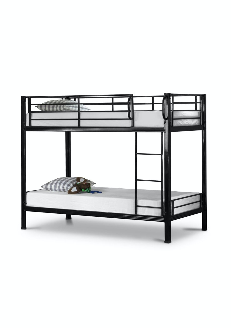 Picture of: Metal Bunk Bed Frame White Beds Mattress Refresh Onceit