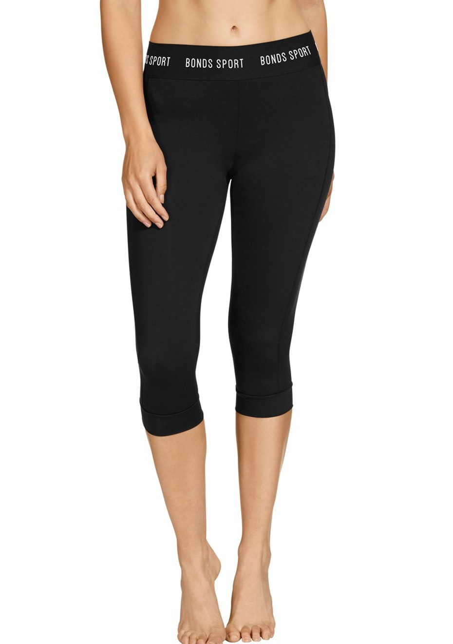 BONDS - Active Micofibre Capri Leggings - Black