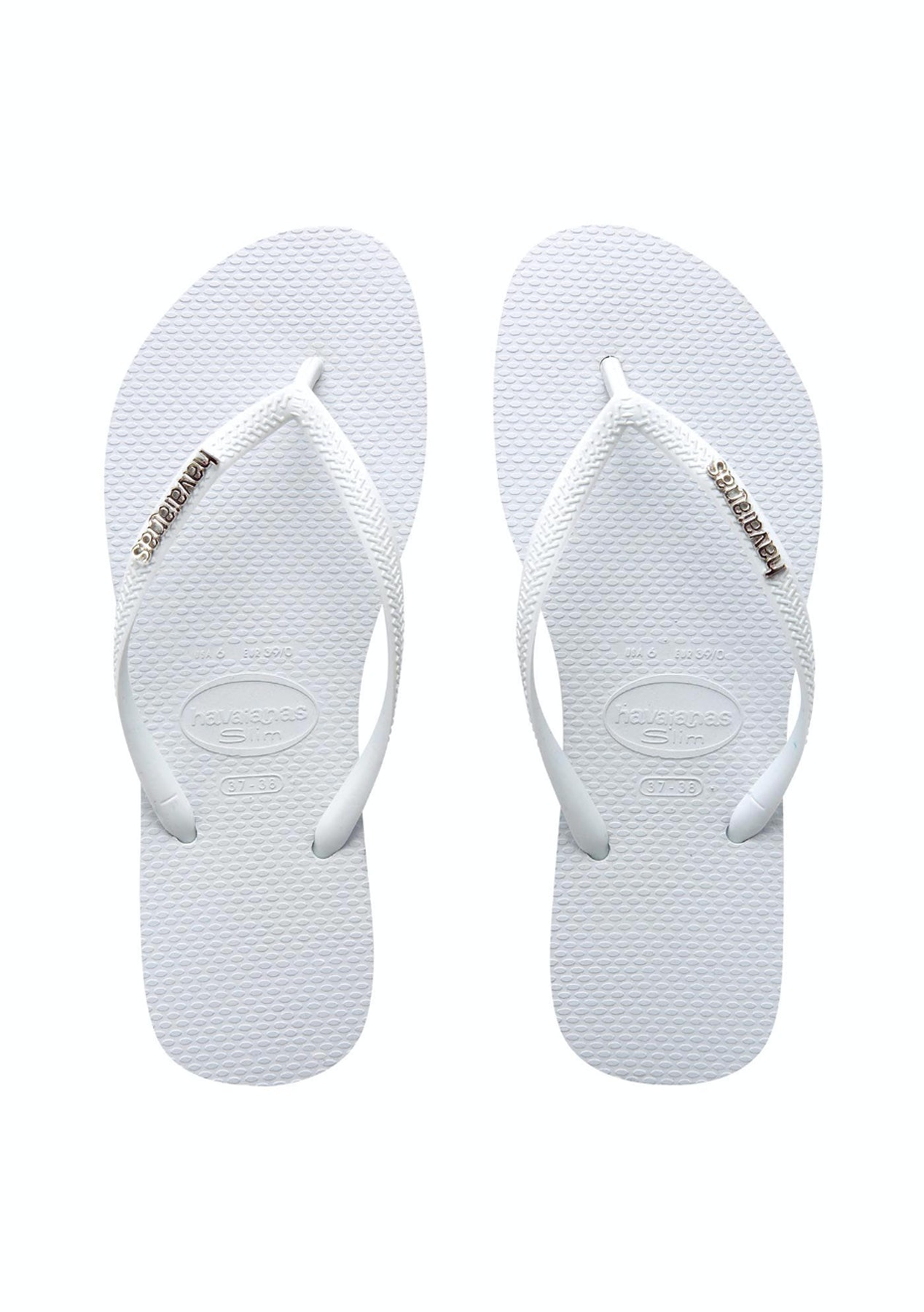 945651755 Havaianas - Slim Logo Metallic - White - Havaianas for the Family from  10  - Onceit