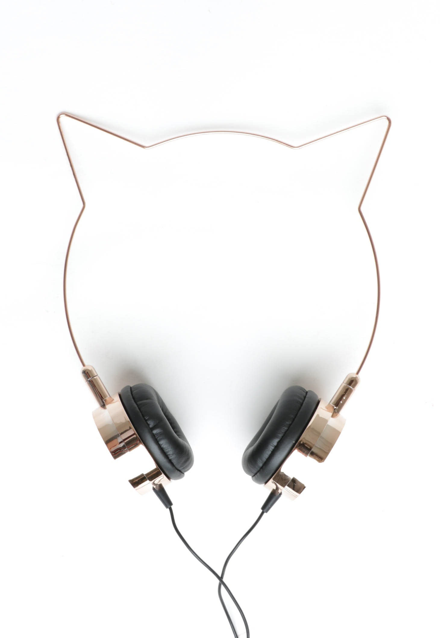 Wire Kitten Headphones - Rose Gold/Black