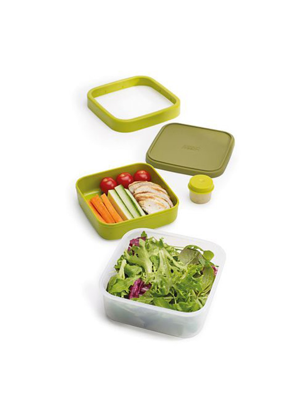 Joseph Joseph - GoEat Compact 3-in-1 salad box - Green