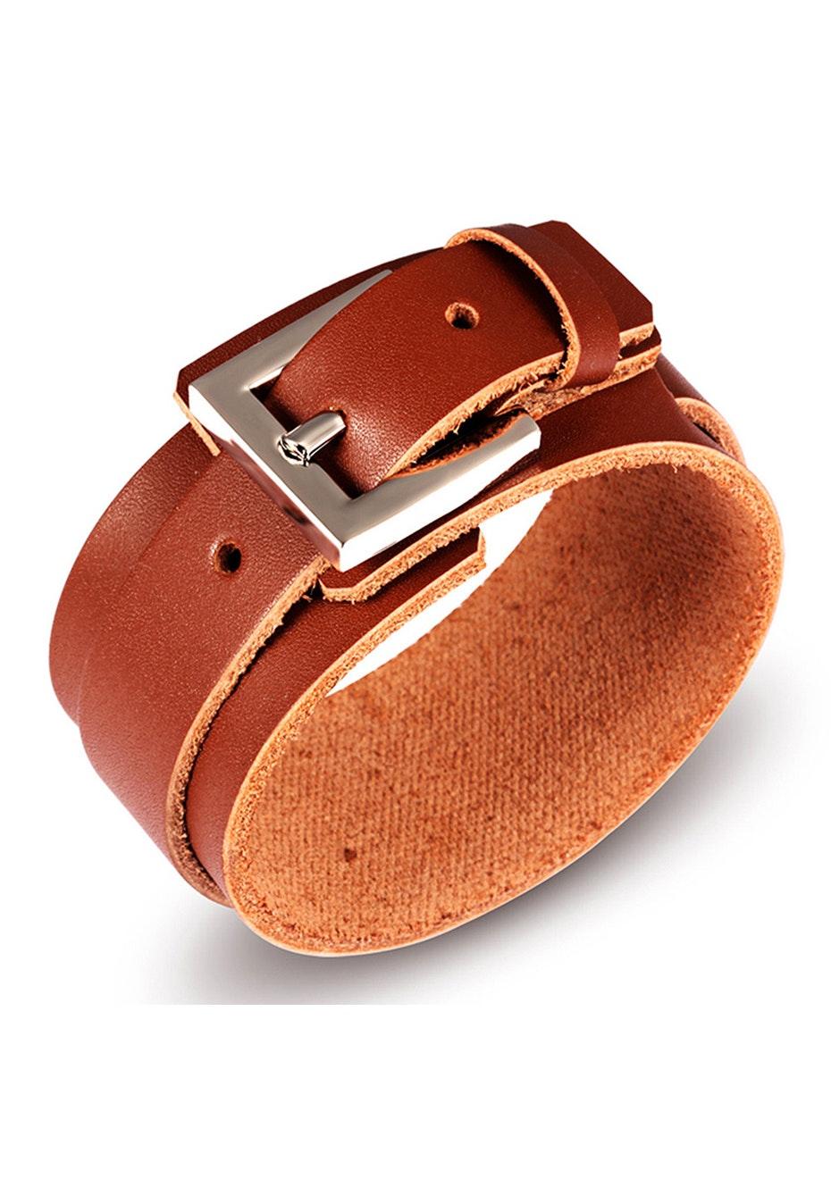 Genuine Leather Bracelet | Brown