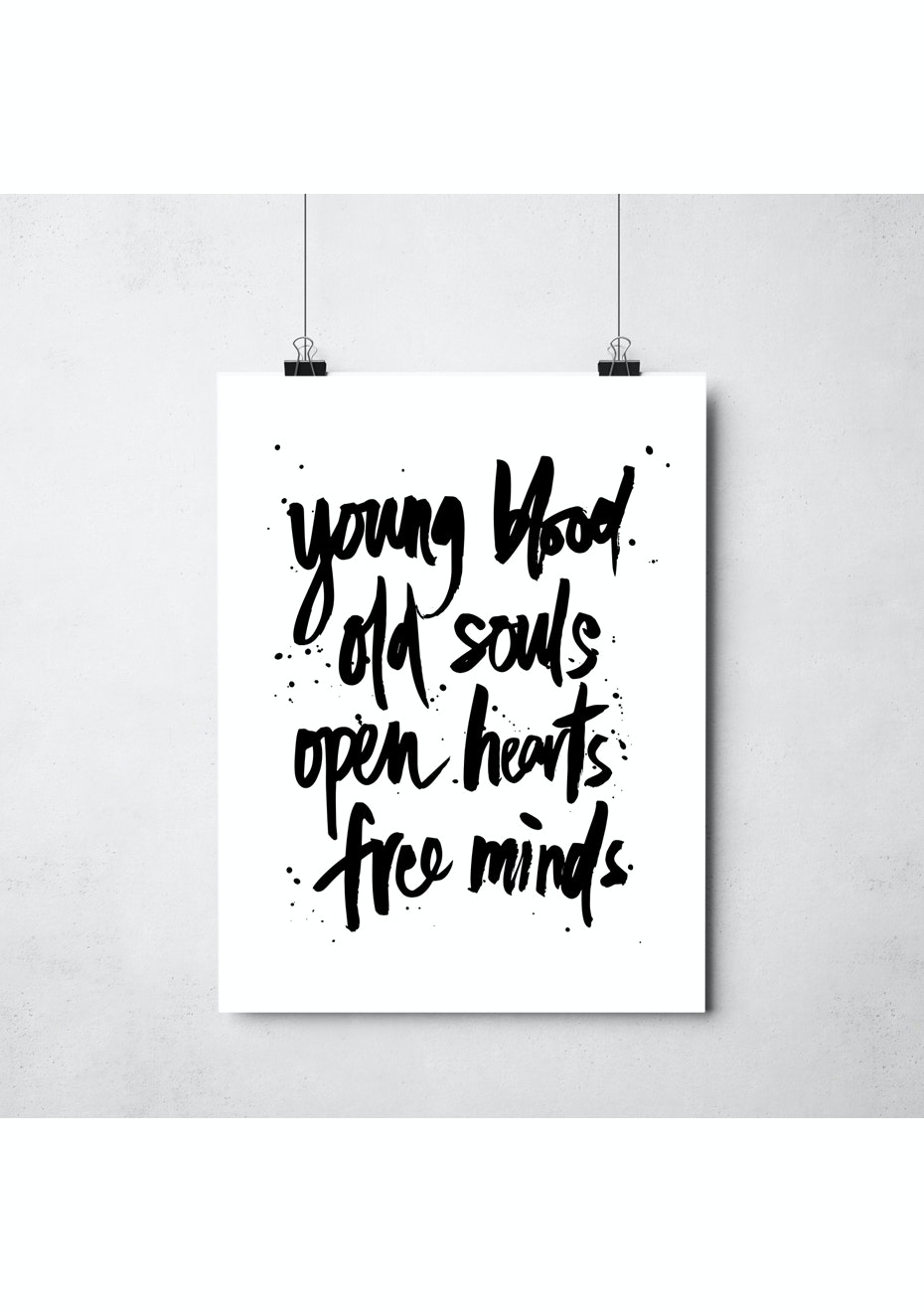 Simply Creative - Young & Free - A3 Monochrome Print