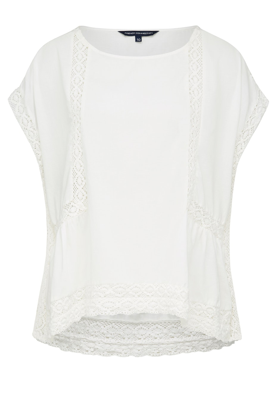 French Connection - Embroidered Sl Shirt - Summer White