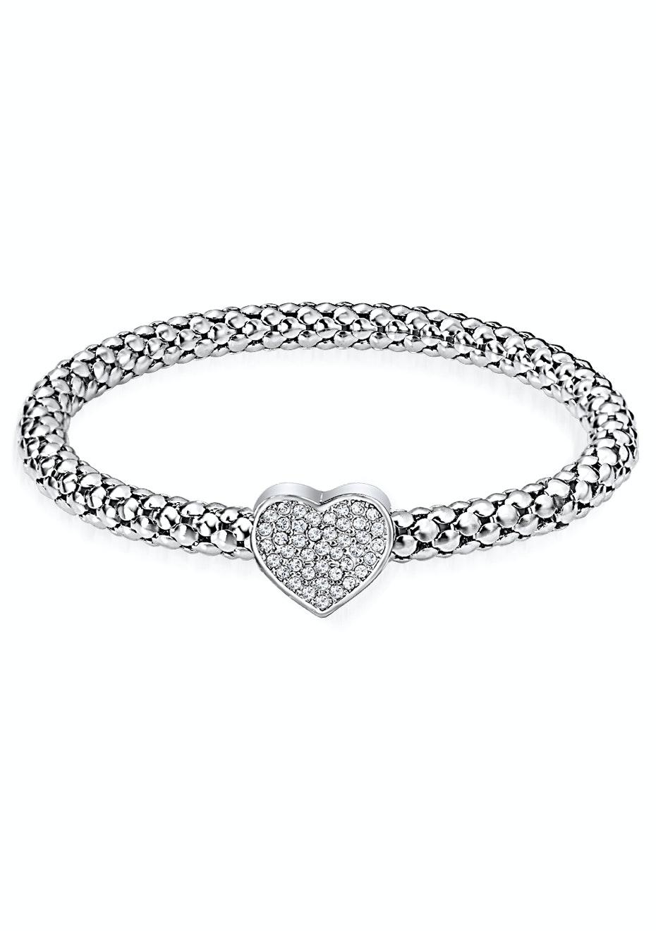 Heart Bracelet Ft Swarovski Elements