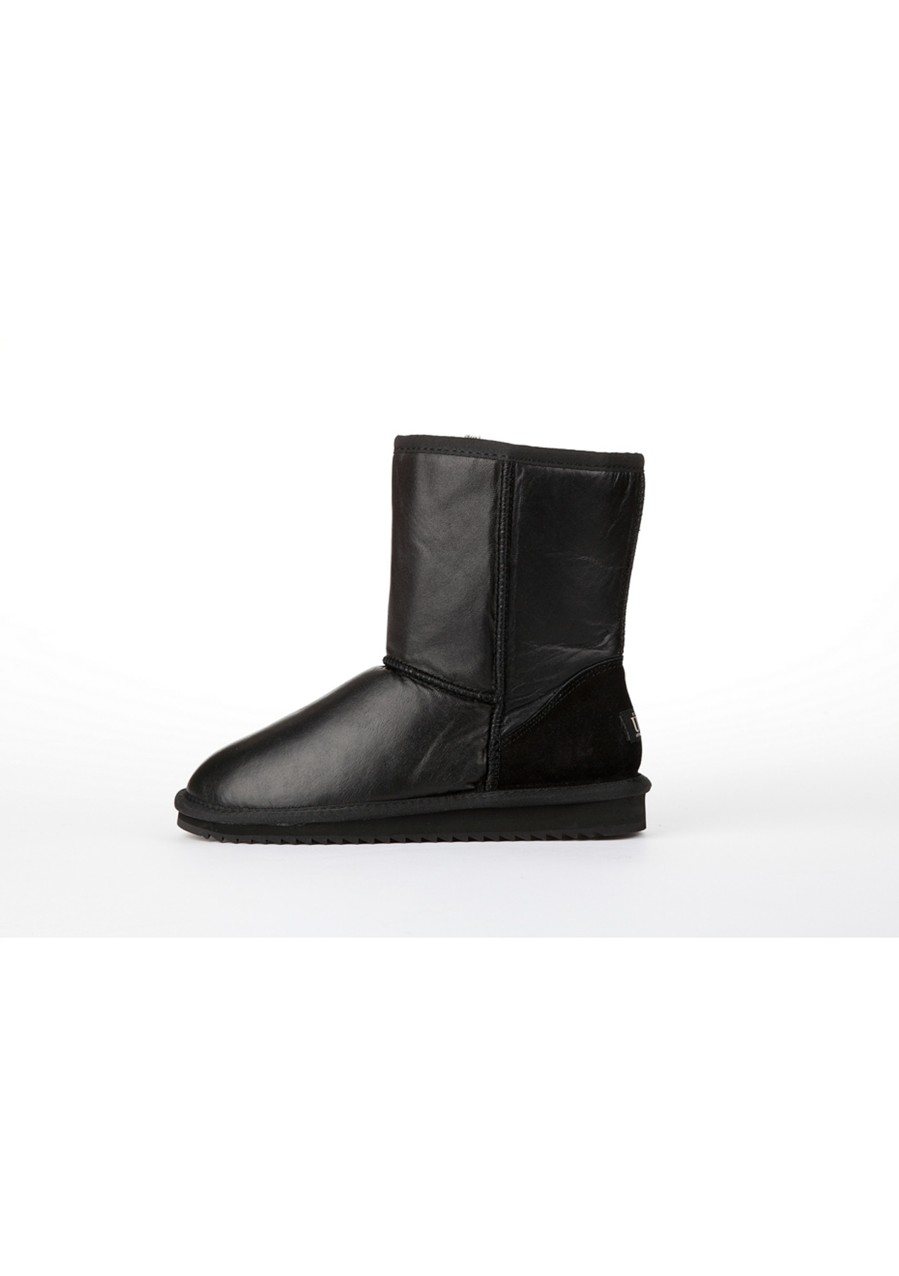 bb0bda5d59c1 ... canada oz natives ugg water resistant lambskin leather classic short  black uggs for the family up