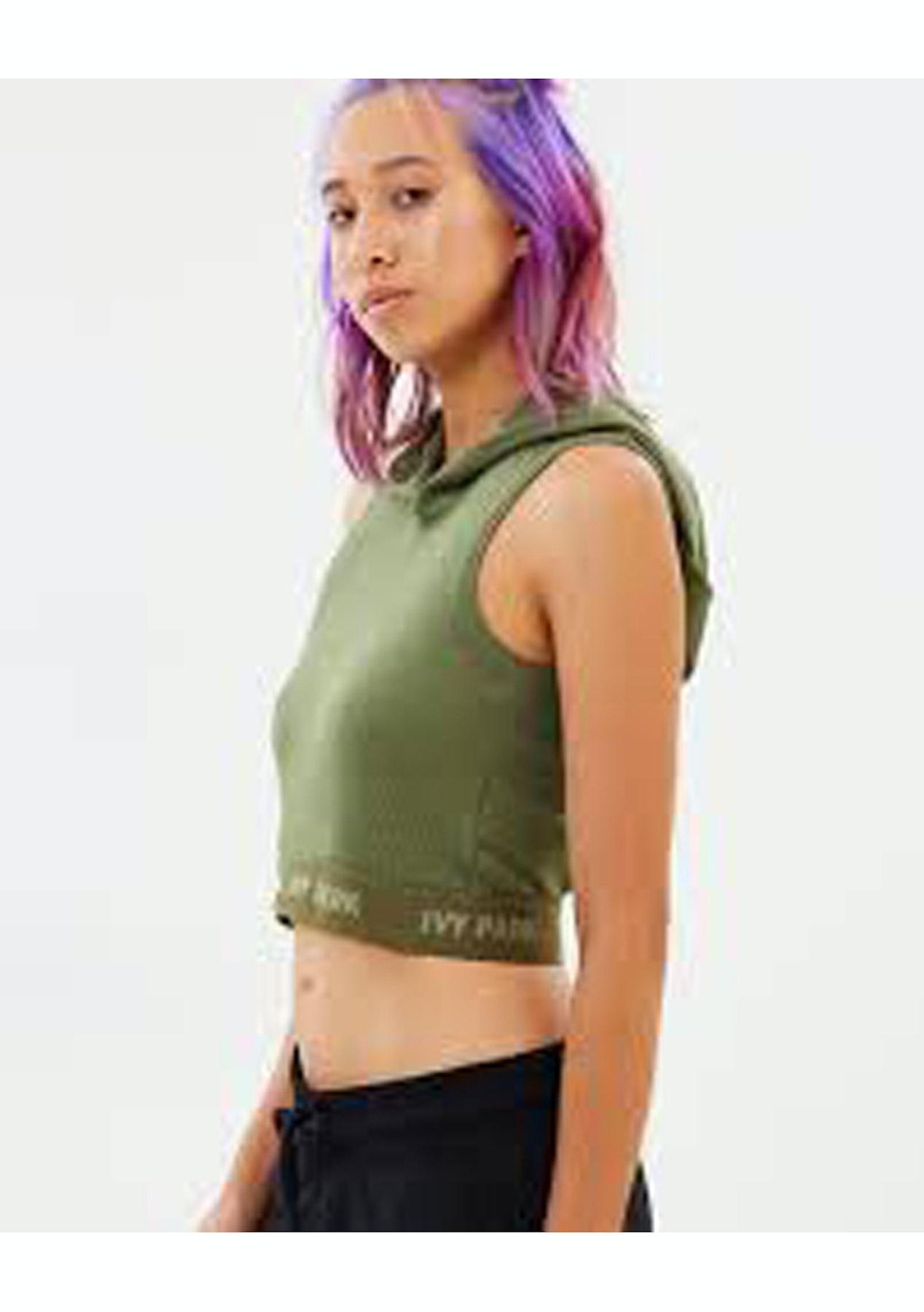 2407c7656b36b6 Ivy Park - Crossover Back Rib Crop - Moss - The Streetwear Edit - Onceit