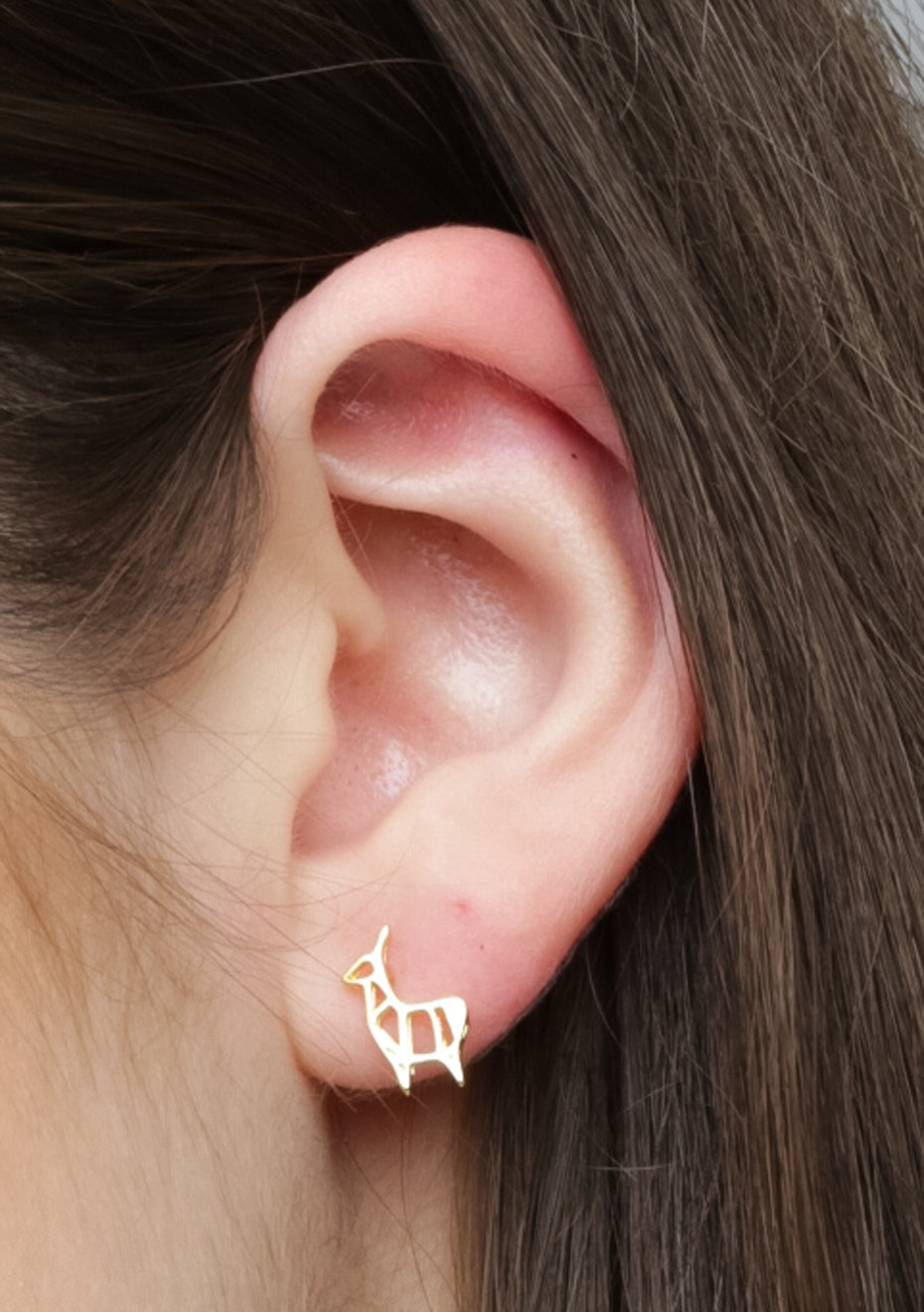 Reindeer Stud - 925 Gold Plated