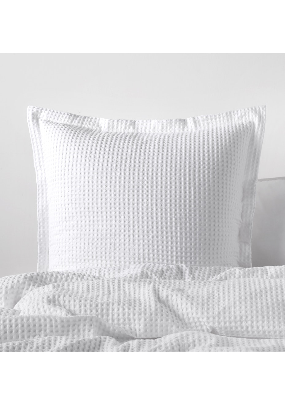 Grand Atelier White Hotel Waffle Euro Pillowcase