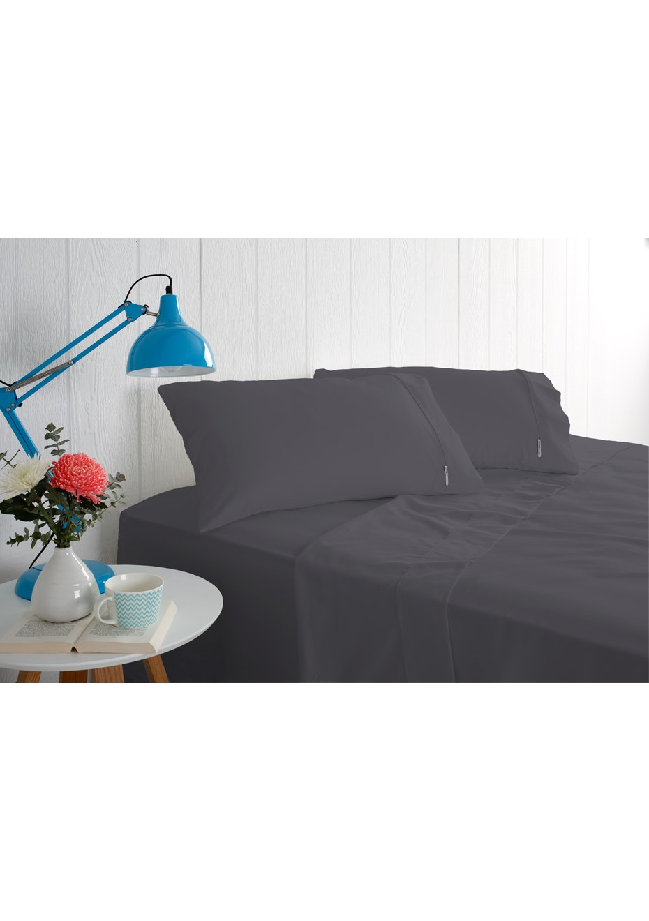 Odyssey Living 1000 Thread Count – Cotton Rich Sheet Sets - Charcoal - Single Bed