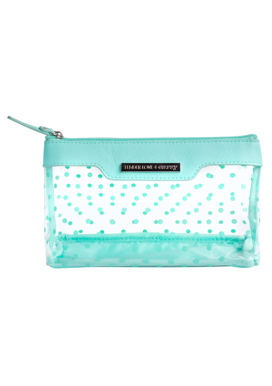 TL+C - Crystal Dot Basic Pouch Ice - Black/Clear