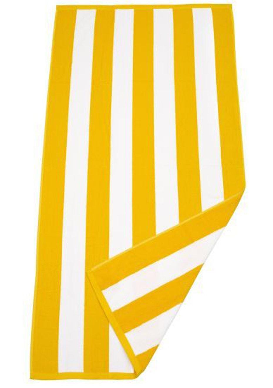 Havana Stripe Beach Towel Yellow/White