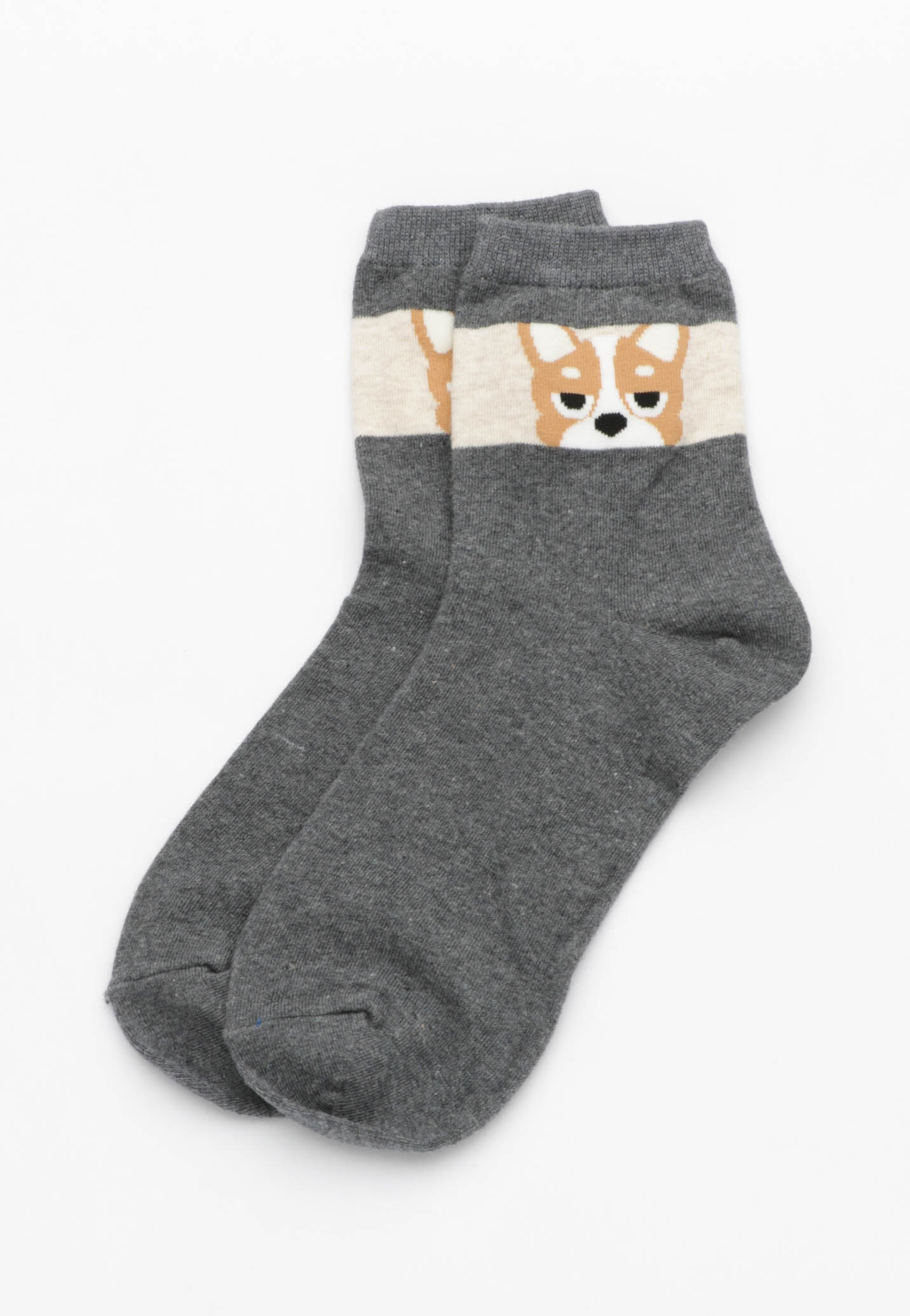 Shifty Eye Dog Socks - Charcoal