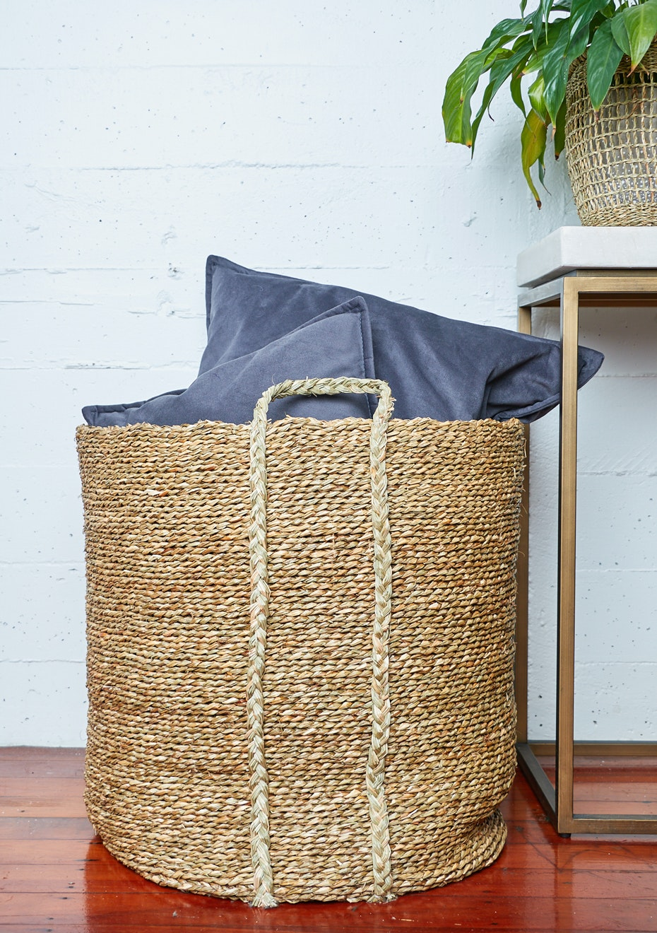 Large Seagrass Storage Basket   Natural   Fast Shipping Seagrass Baskets    Onceit