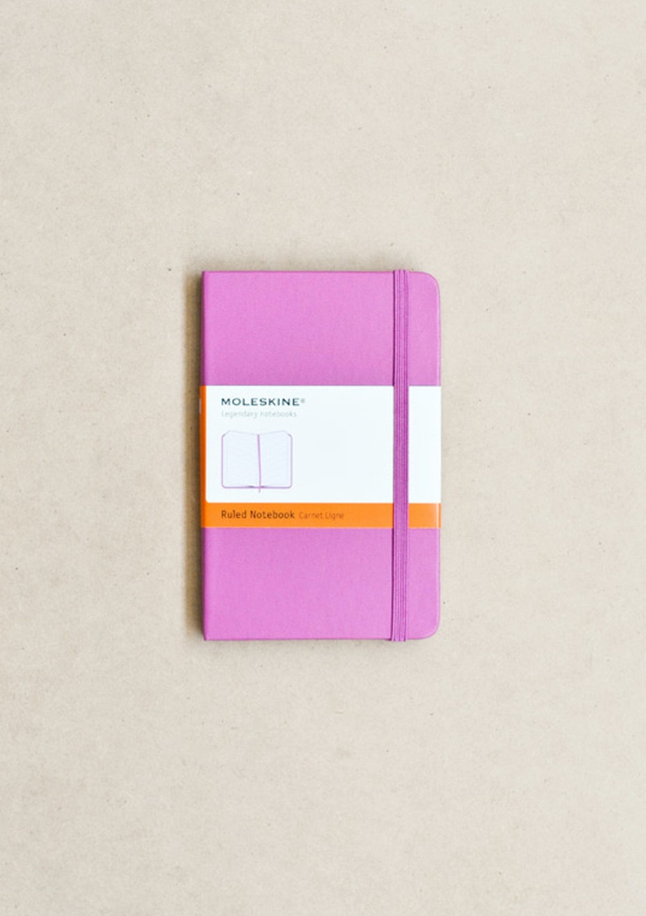 Moleskine - Classic Hard Cover Notebook - Ruled - Pocket - Magenta