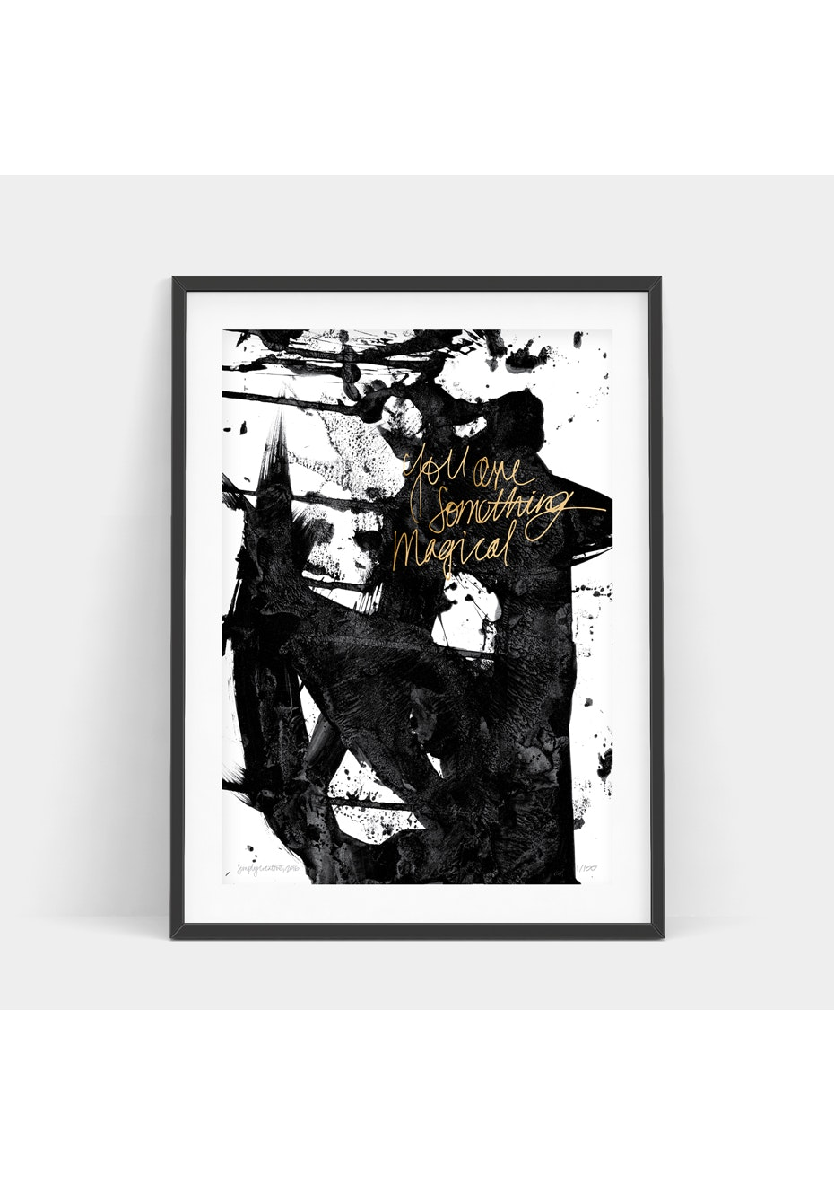 Simply Creative - Magical Attraction - A3 Gold Foil Limited Edition  Print