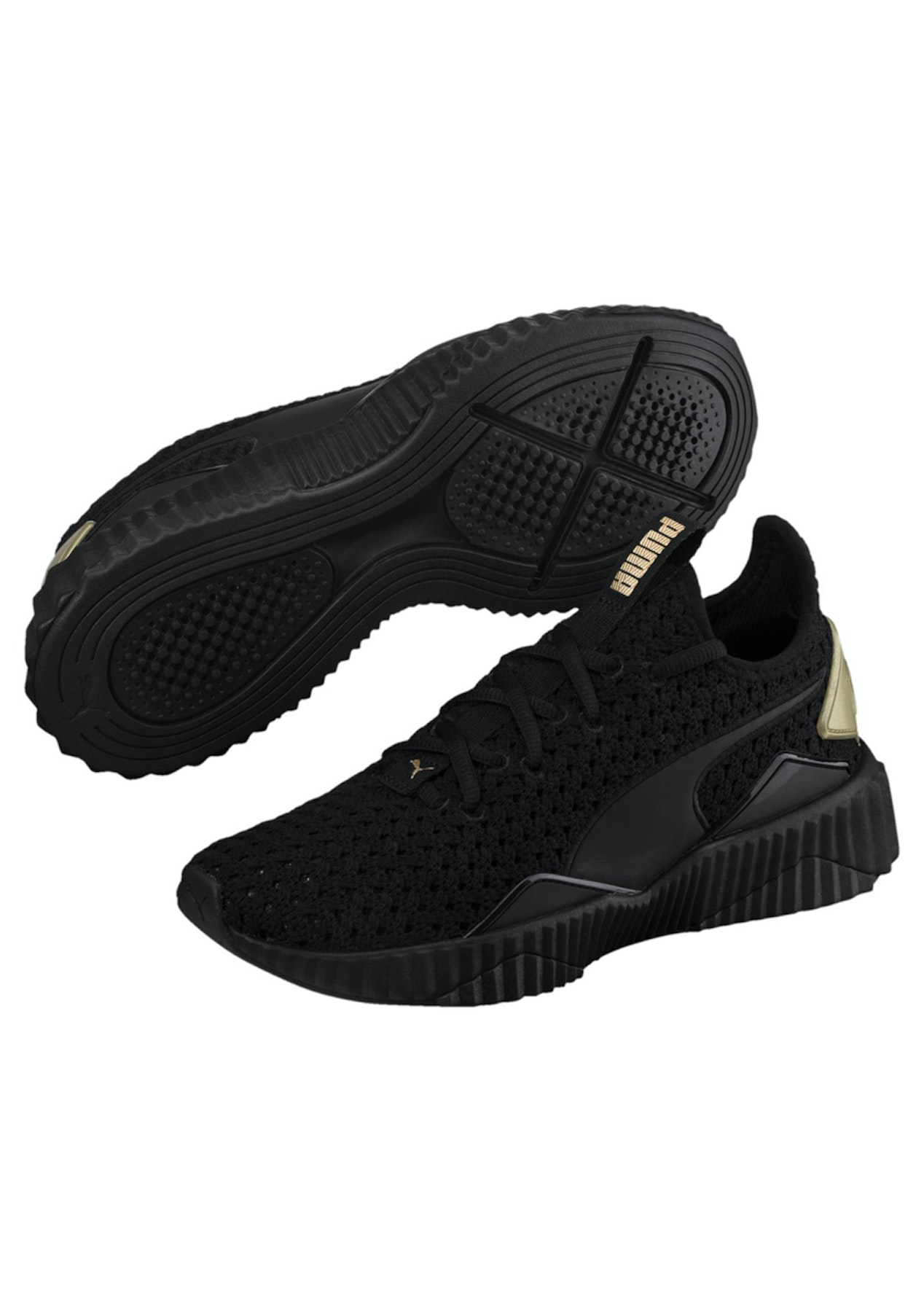 8f6e54d46d68 Puma - Womens Defy Varsity - Black Gold - Puma New Styles Added - Onceit