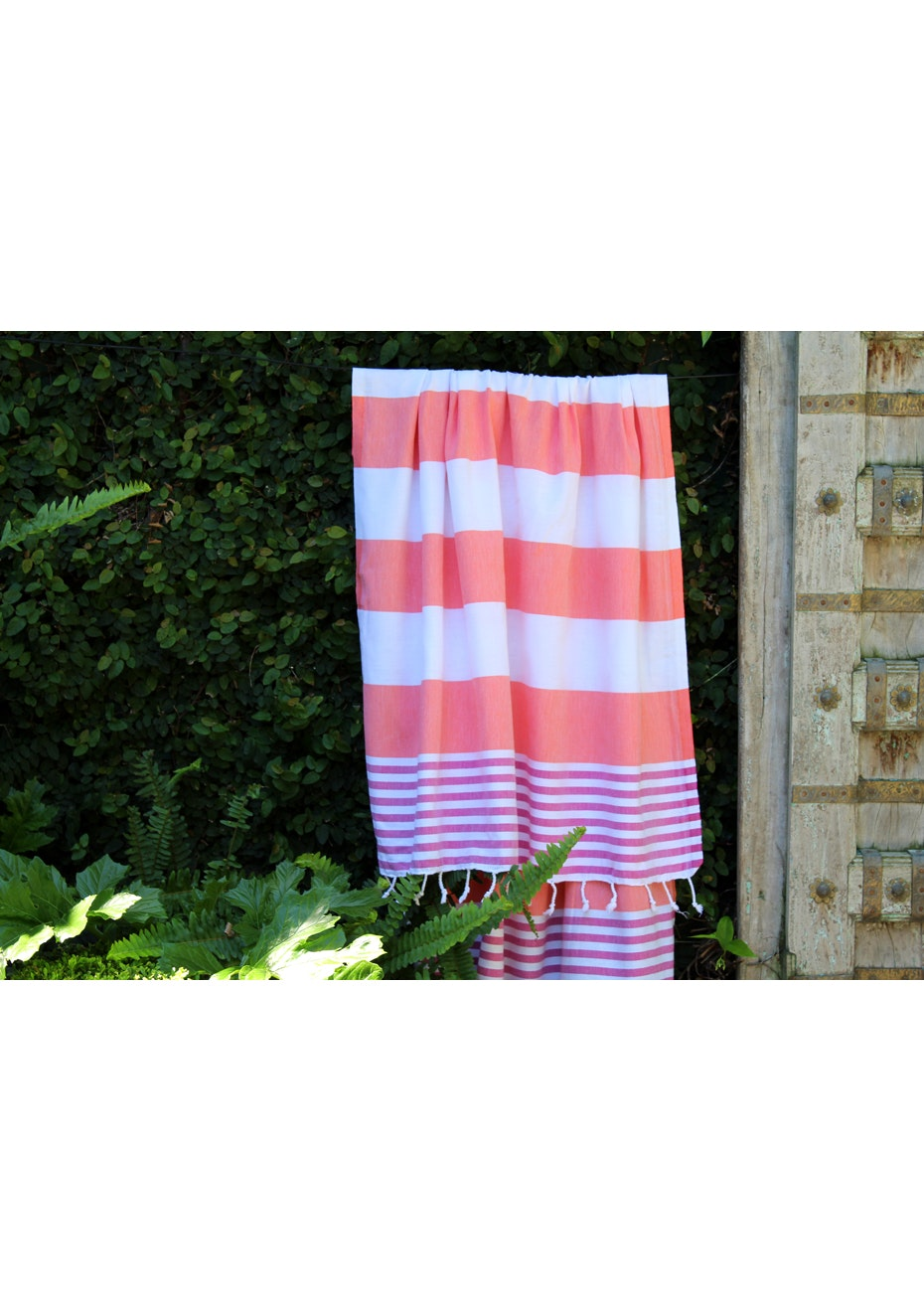Ladon Fuschia & Coral Turkish Towel
