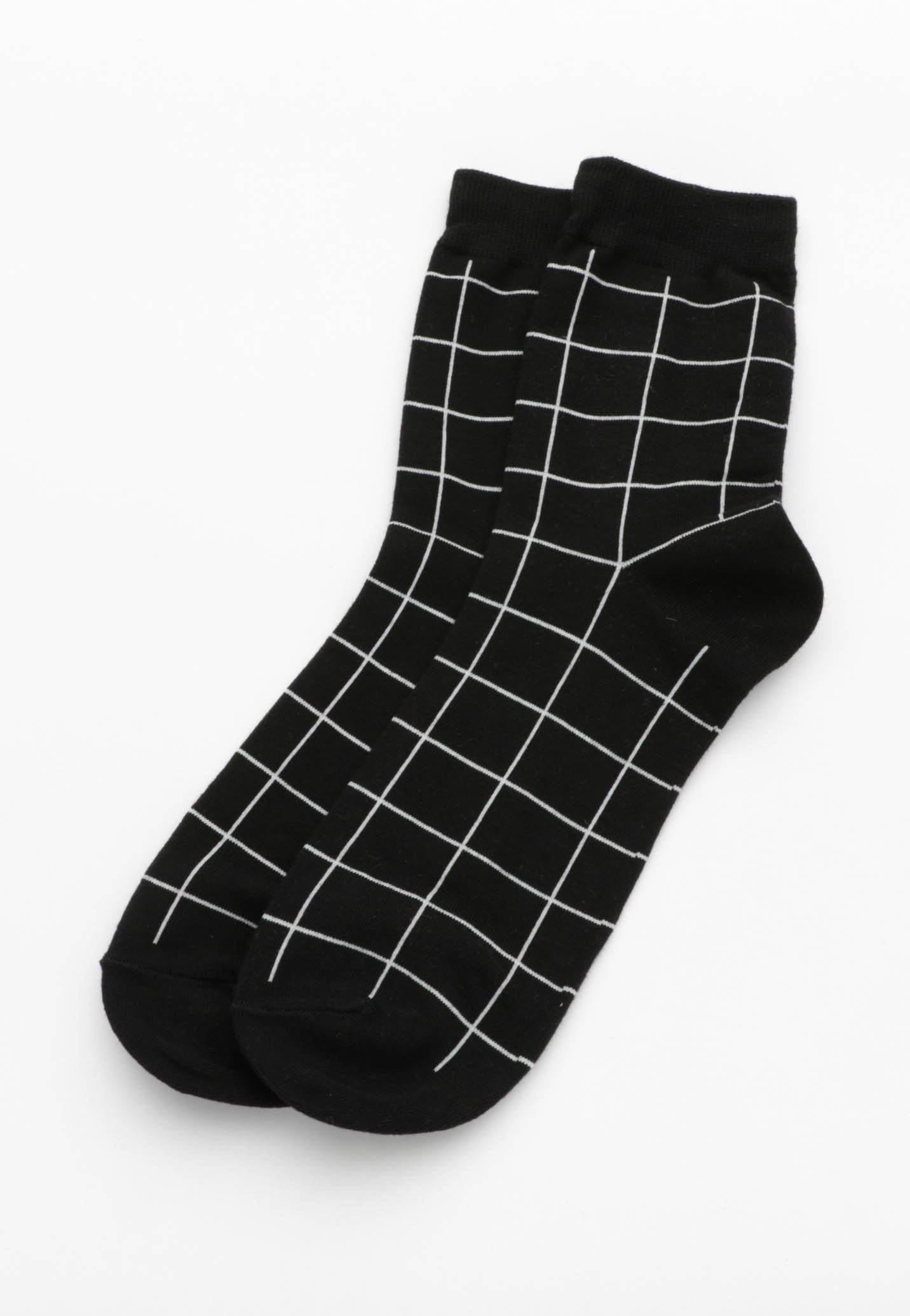 Grid Socks  - Black/White