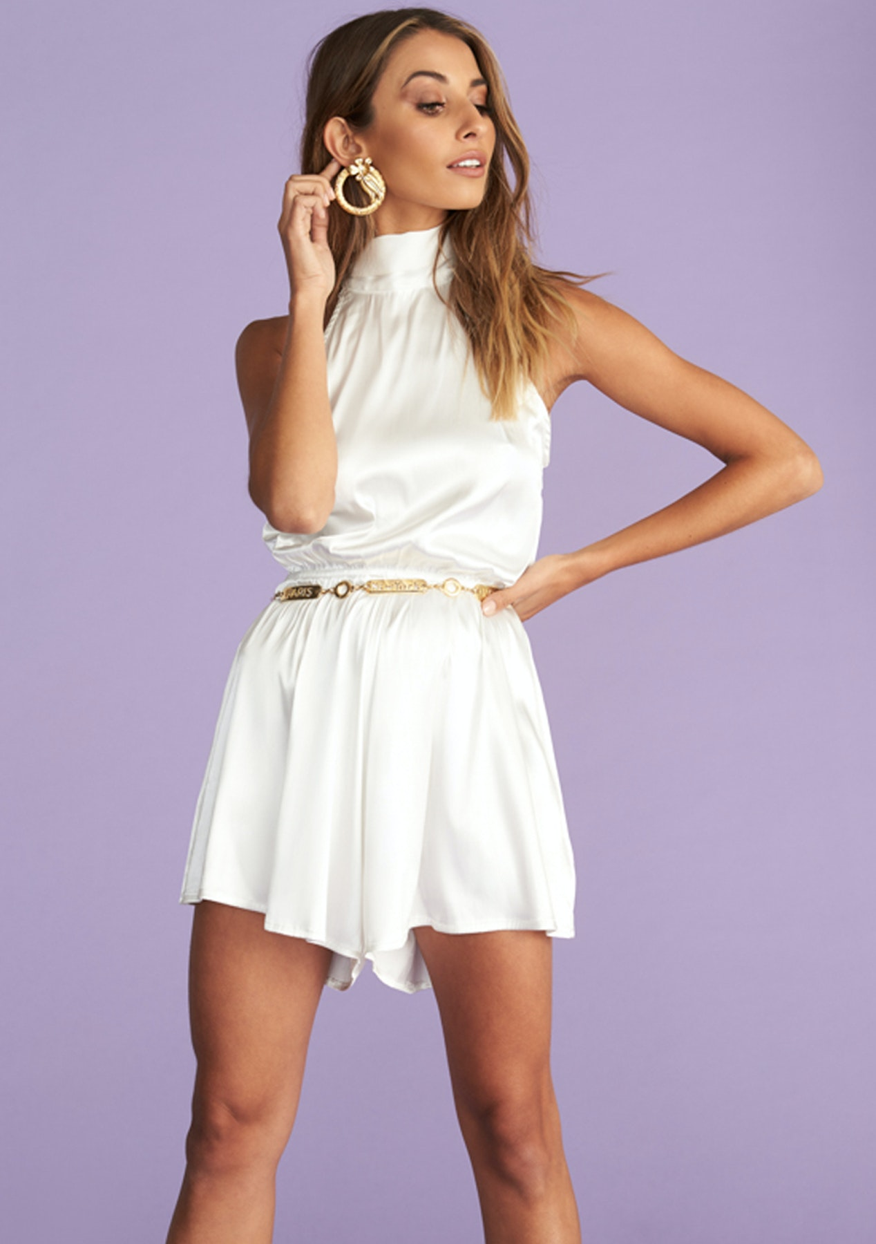 ba4f40ed2d158 Lioness - High Expectations Romper - White