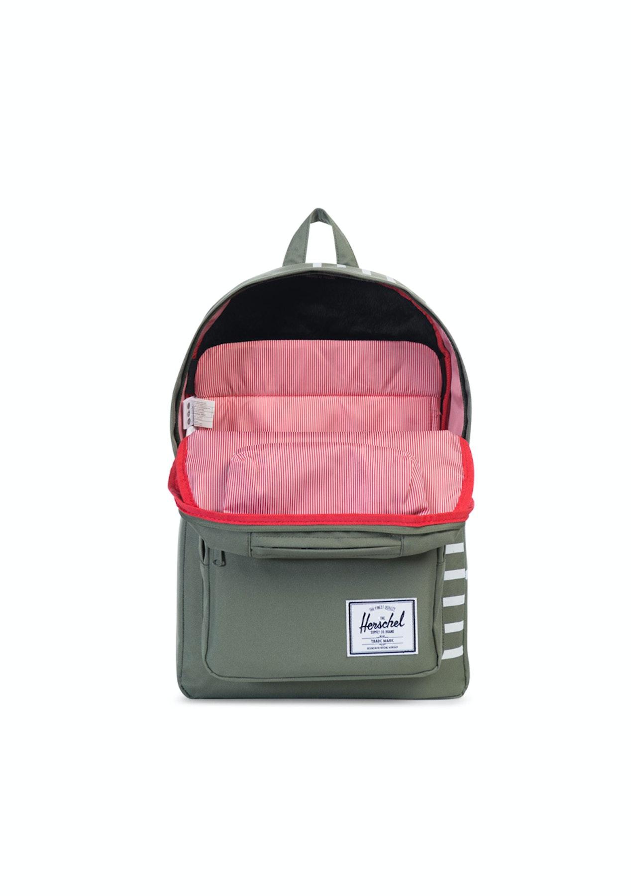 Herschel Supply Co - Pop Quiz - Deep Lichen Green Blanc de Blanc Stripes -  Mens Streetwear Sale - Onceit ceb31913d8
