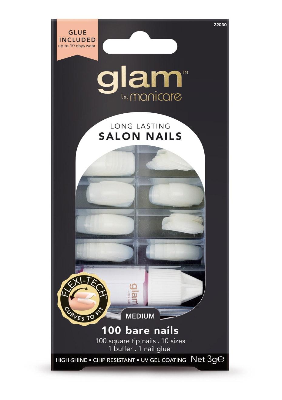 Manicare Glam  - Glue-On Nails - Bulk Kit Pk 100