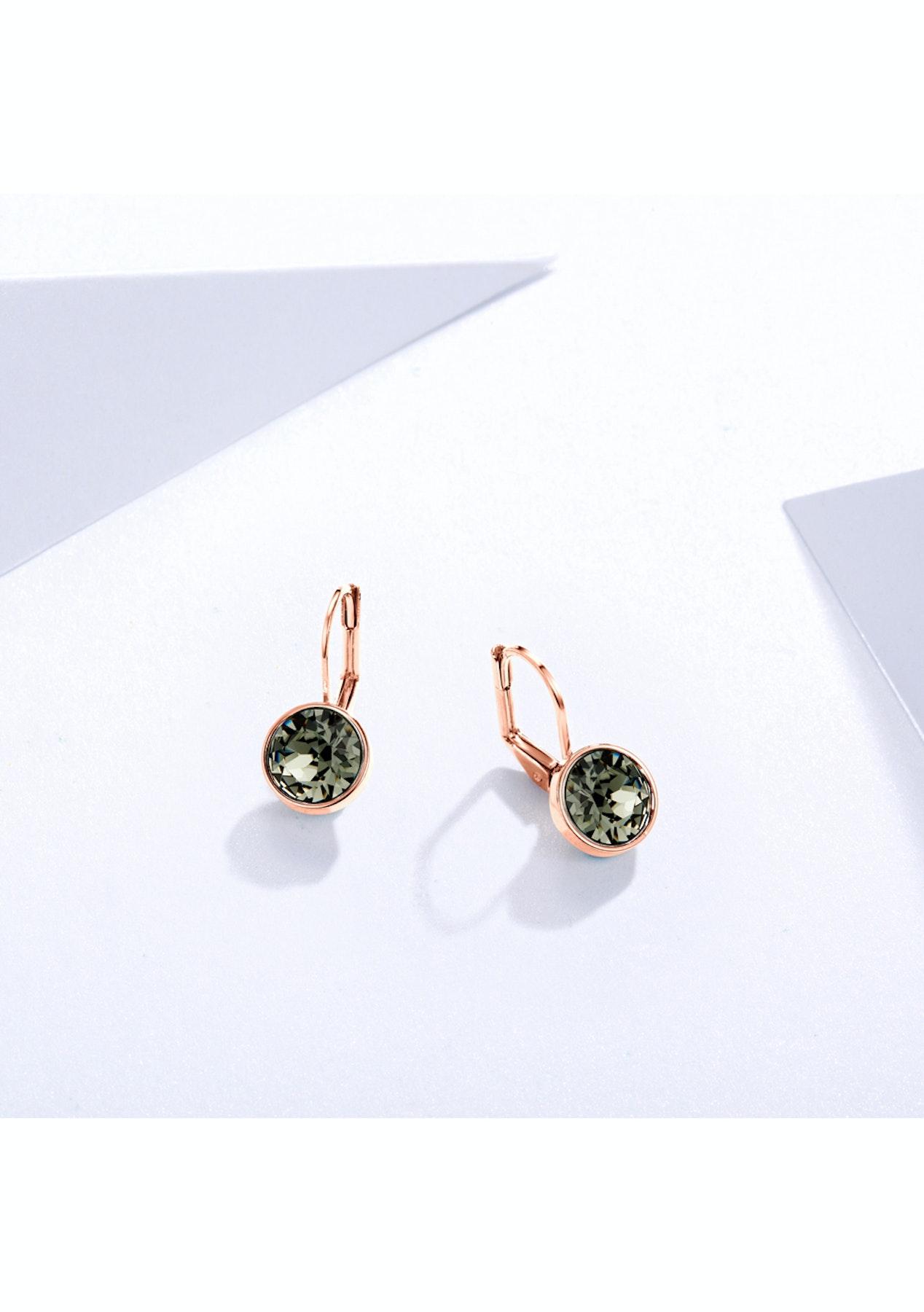 e84848691 Krystal Cotoure - Bella Earrings with 2 Carat Swarovski Black Diamond  Crystals Rose Gold Plated - My Jewellery Store Swarovski Elements Jewellery  Under $40 ...