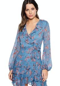 dc07bab6db7 Bardot - Blue Rose Dress - Blue Floral