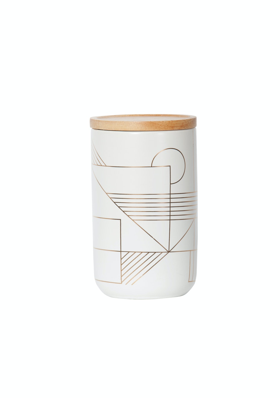 General Eclectic - Tall Canister Gold Deco