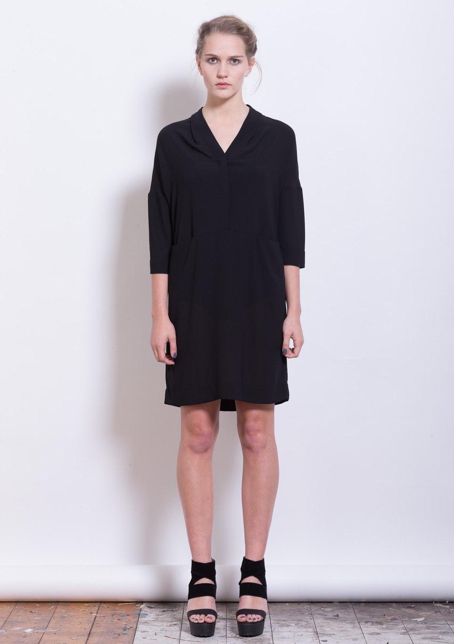 XPLAIN - Stone Face Dress - Black