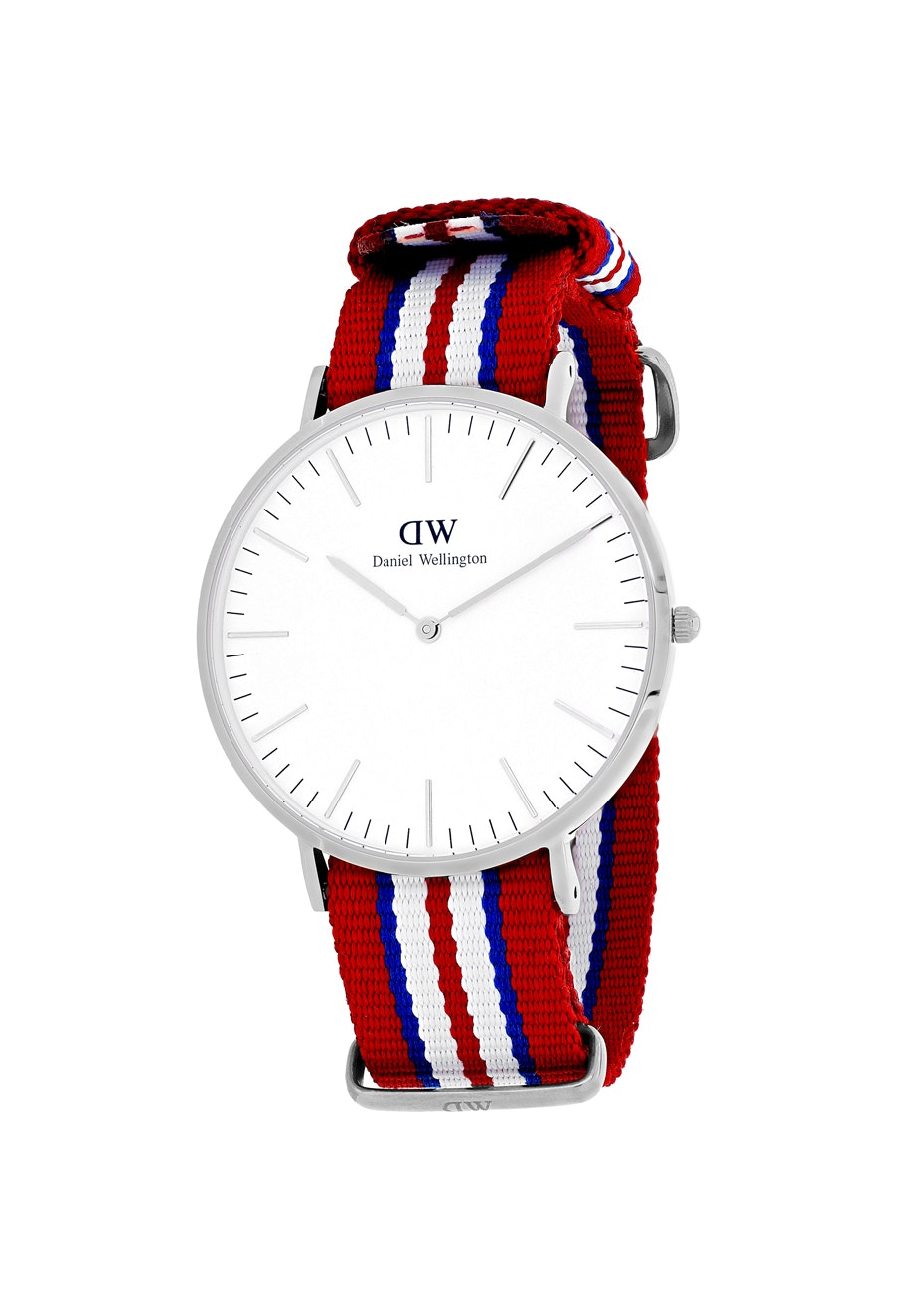 Daniel Wellington Men's Classic Exceter - White/Tri-tone Red, B