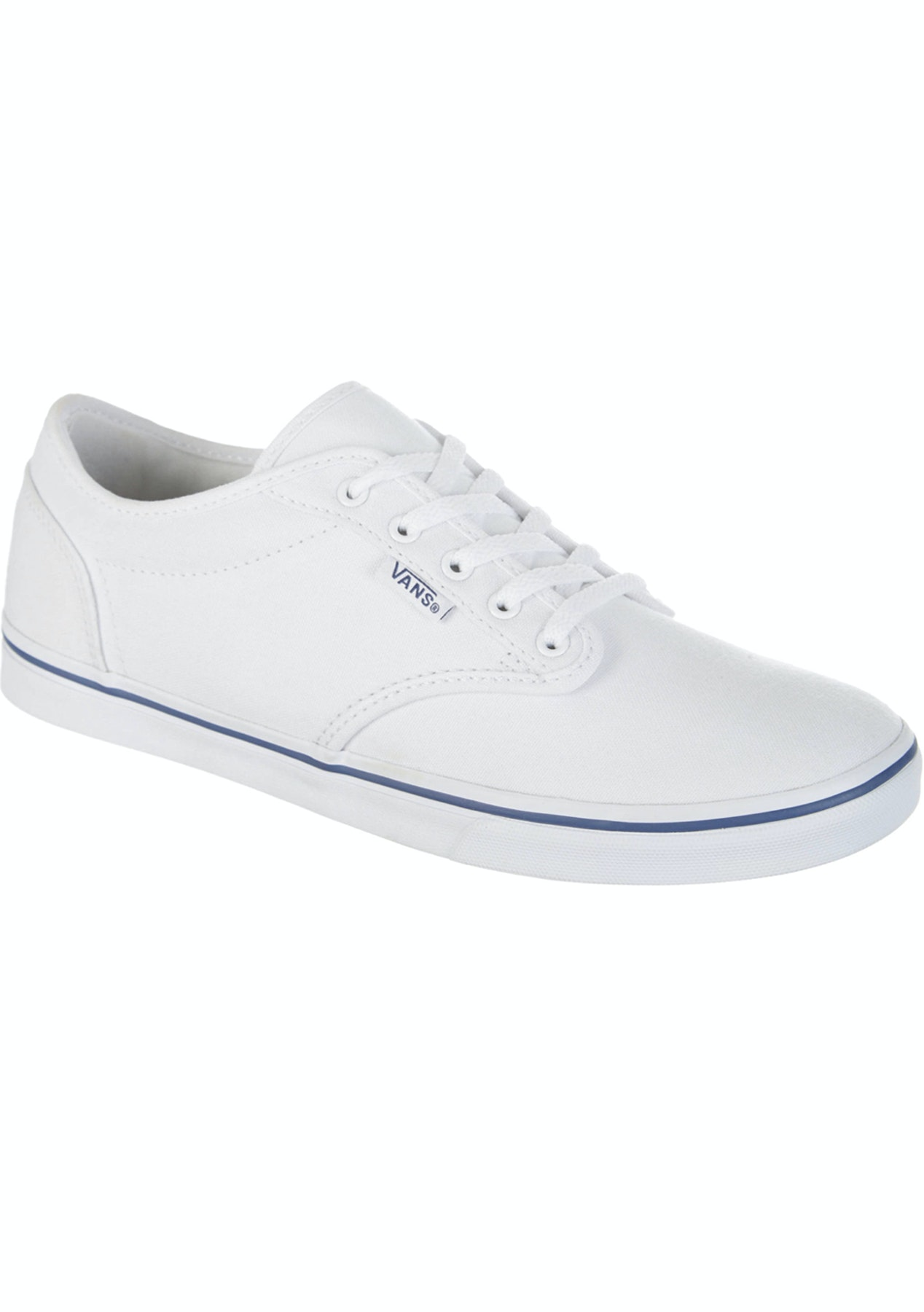 133bbc08adc573 Vans - Womens Atwood Low - Canvas - White Navy - Street Shoes - Onceit
