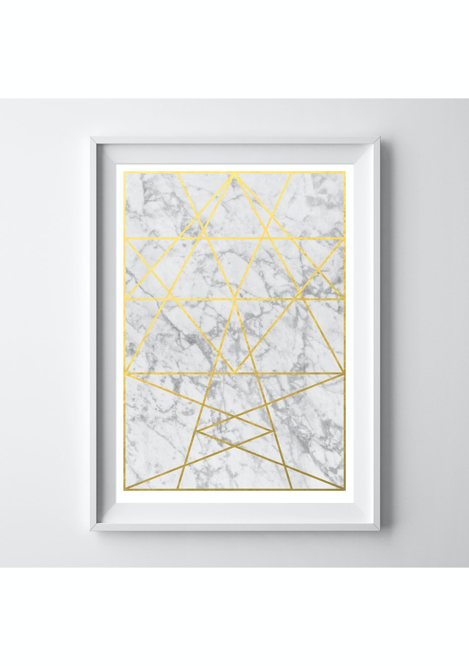 Simply Creative - Crystal - A3 Gold Foil Print