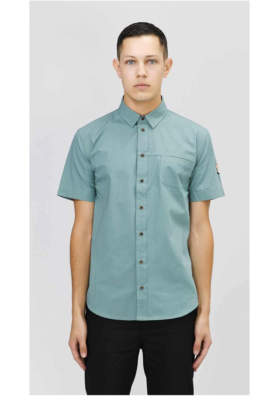 I Love Ugly - Mint Lady Emb Short Sleeve Shirt