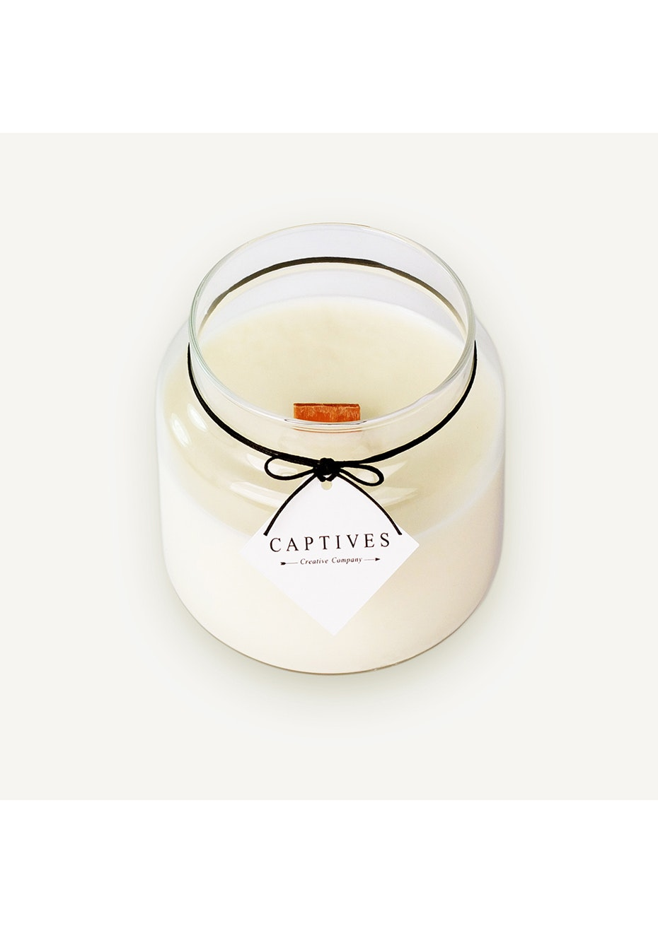 Captives Wood Wick Candle - Lychee/Black tea