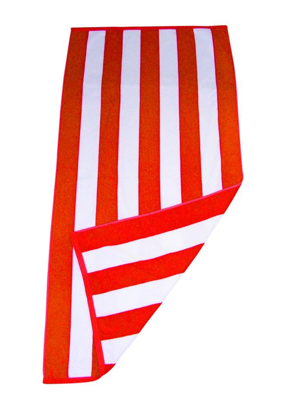 Havana Stripe Beach Towel Orange/White