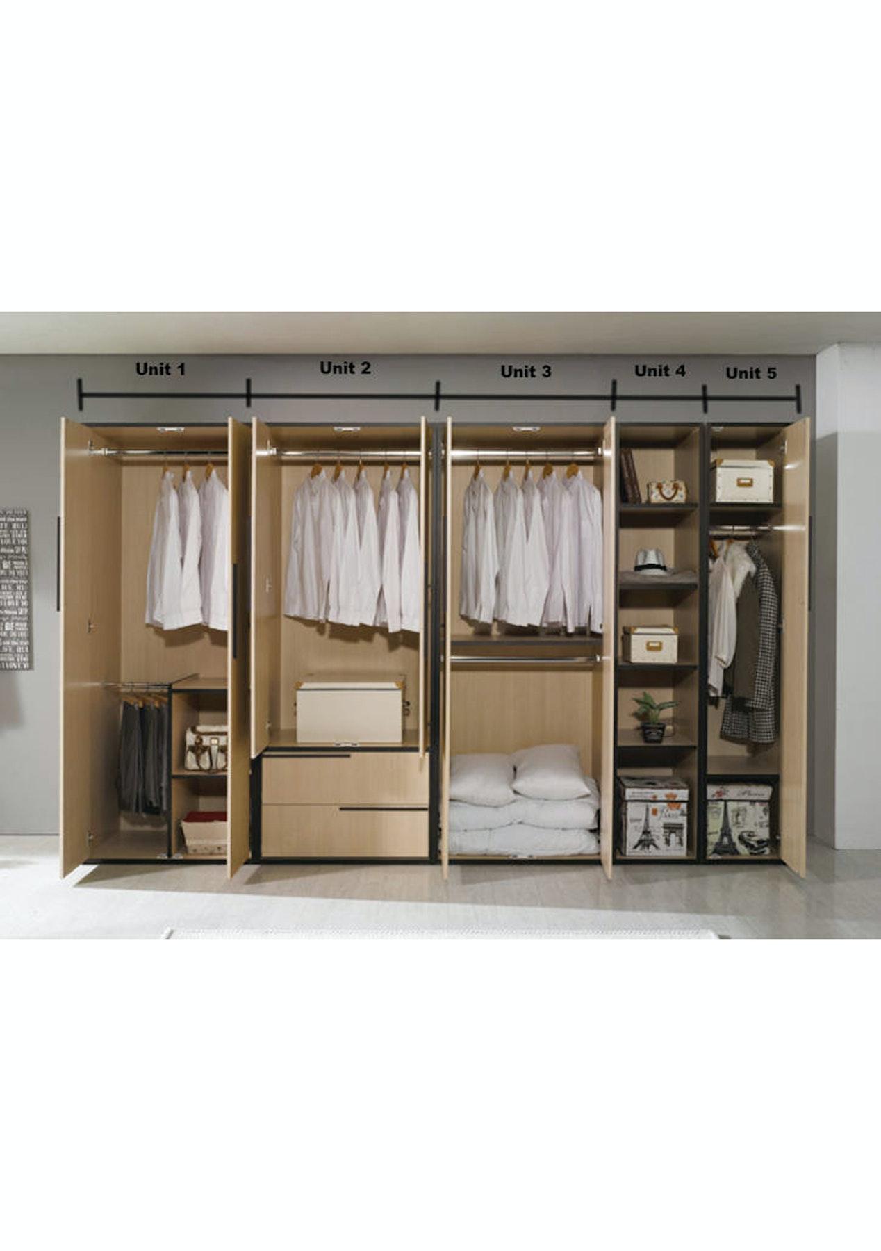 Miki Wardrobe Storage Cabinets Unit 1 Designer Wardrobe Systems