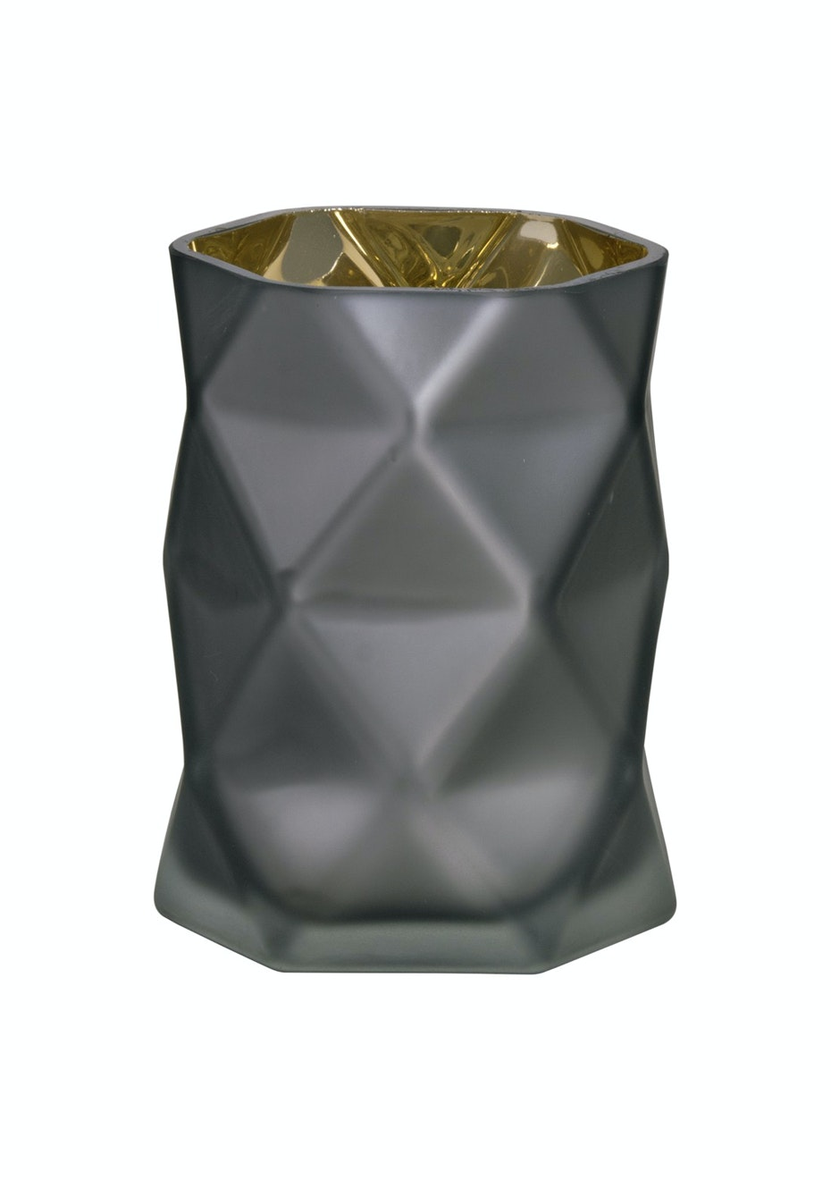Jason - Geometric Candle Holder - Charcoal/Gold
