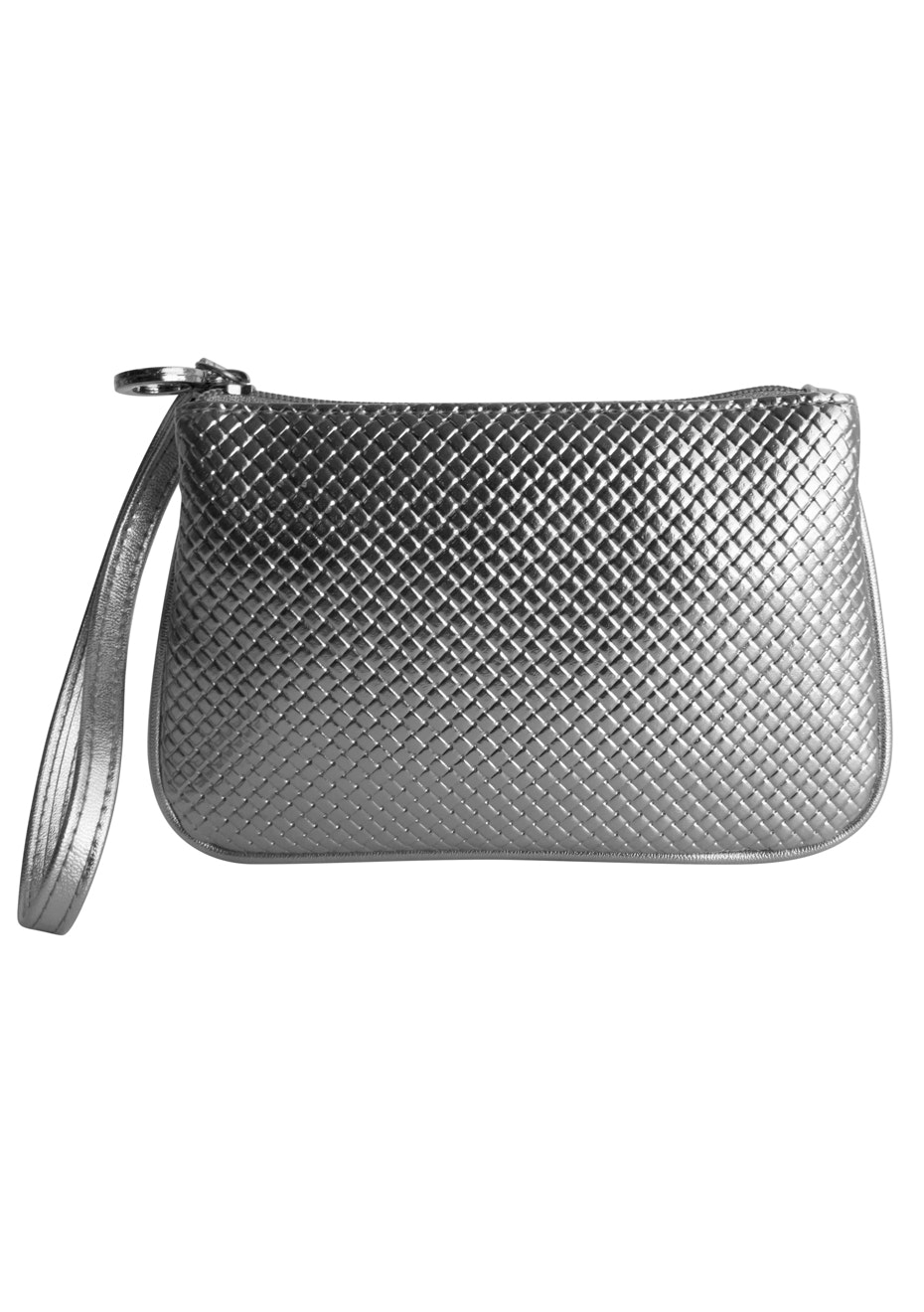 TL+C - Braid Silver Wristlet - Pewter