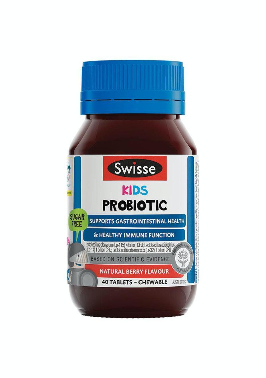 Swisse Kids Probiotic 40 Chewable Tablets