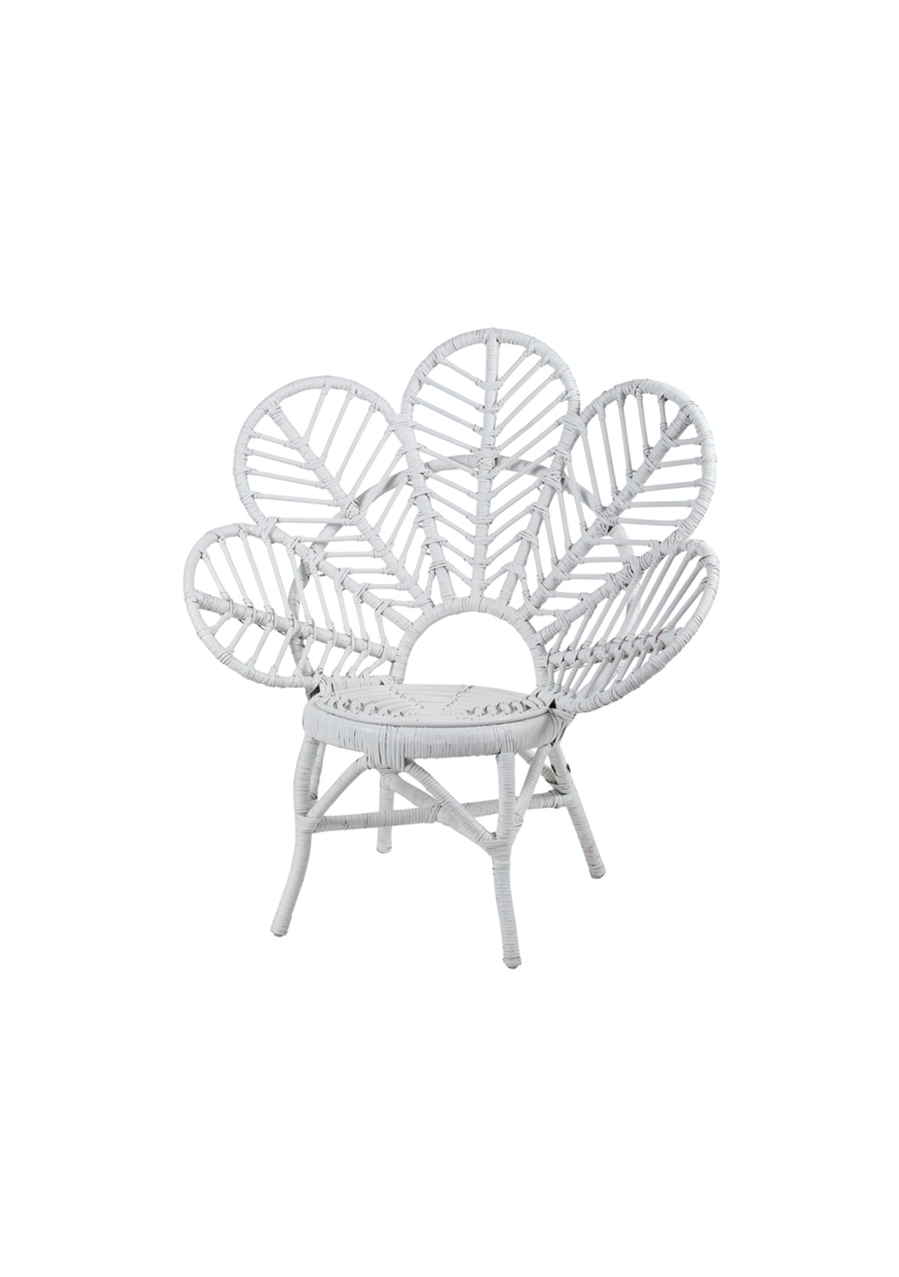 Kids Leaf Chair White Boho Inspired