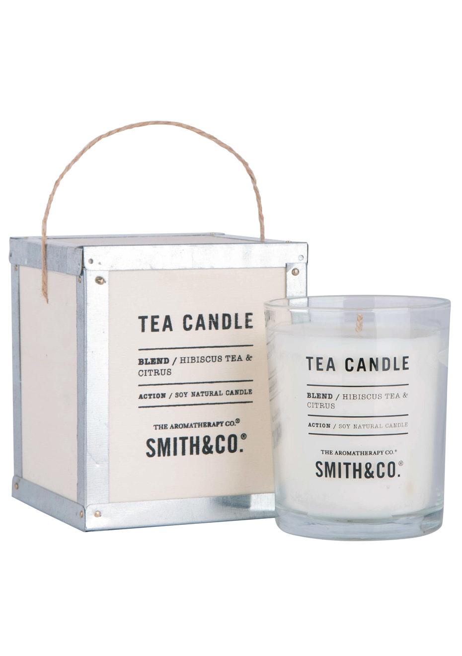 The Aromatherapy Co. Tea Chest Candle  - Hibiscus Tea & Citrus