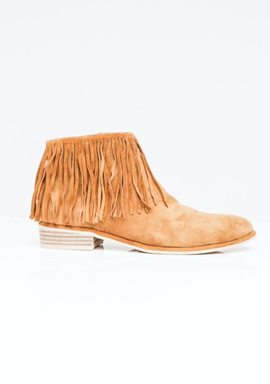 Top End Leeza - Flat Fringe Ankle Boot