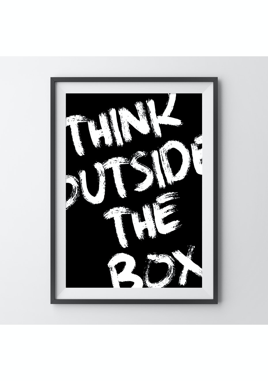 Simply Creative - Think Outside The Box - A4 Monochrome Print