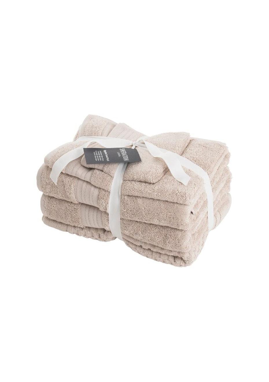 Sheraton Egptian 5 Piece Towel Pack - Colour Stone